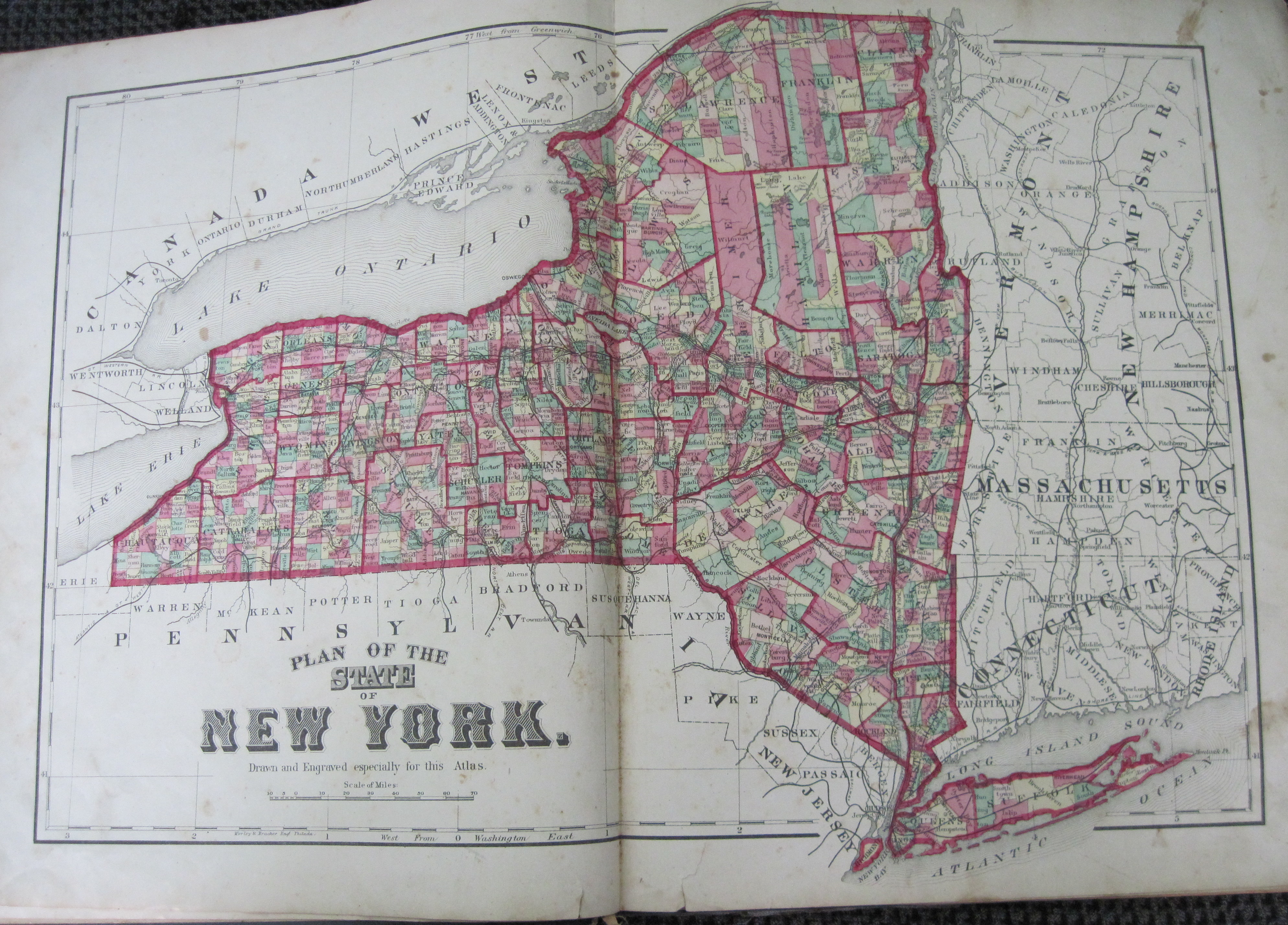New york livingston county leicester - Pages 5 And 6 Map Of New York State