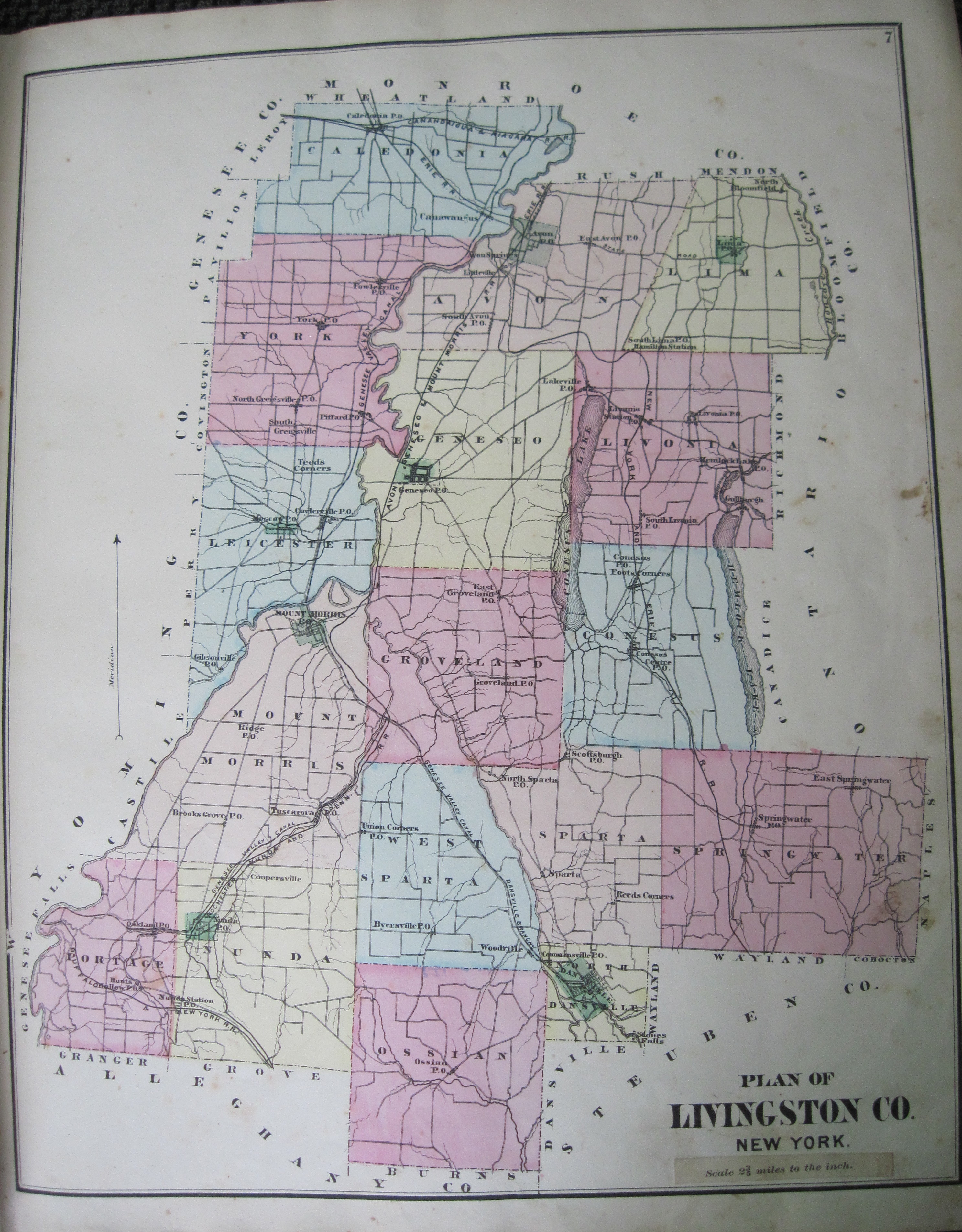New york livingston county leicester - Page 7 Map Of Livingston County