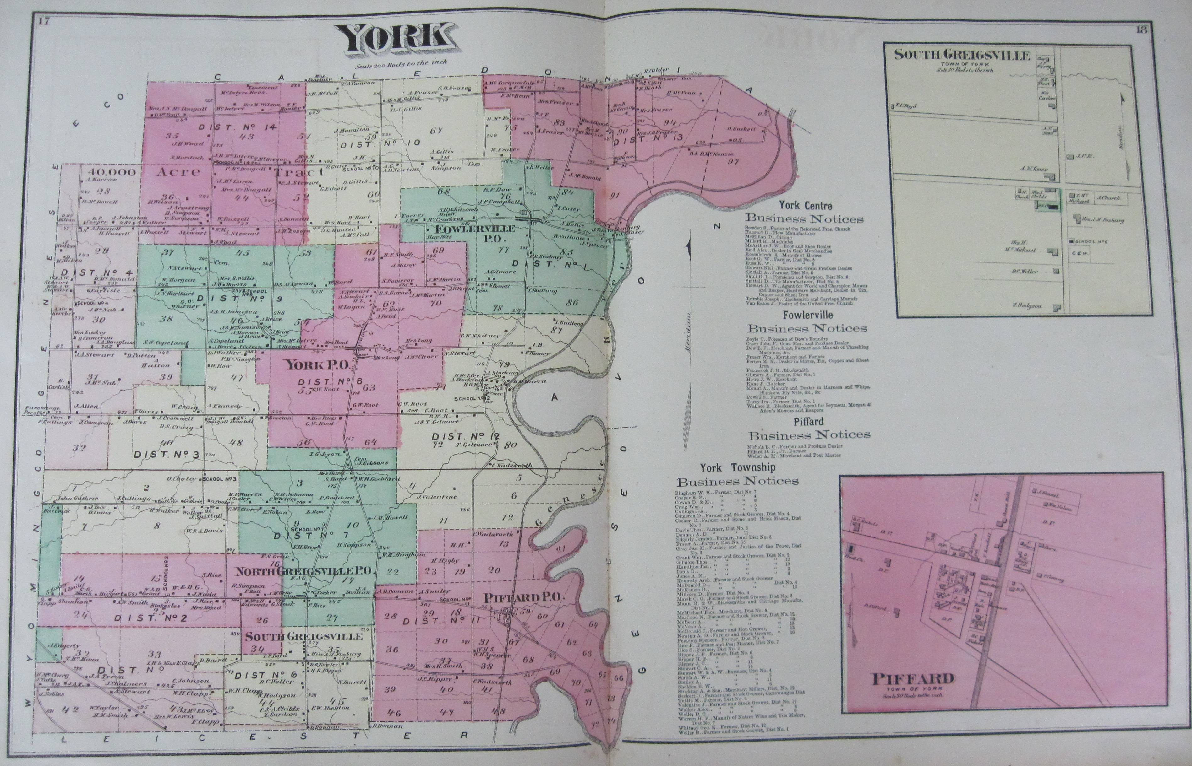 New york livingston county leicester - Pages 17 And 18 York
